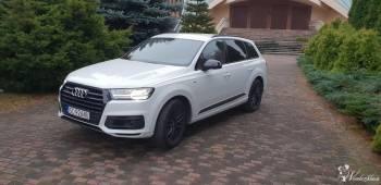 Samochód do ślubu Audi Q7 II 50 TDI quattro EXCLUSIVE auto 2018r biały, Samochód, auto do ślubu, limuzyna Częstochowa