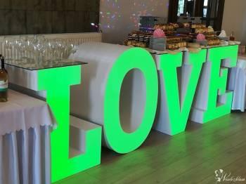 Napis LOVE z Funkcją Stołu Szwedzkiego, Dekoracje ślubne Dobrzyń nad Wisłą