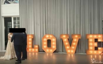 Napis LOVE na wesele, Dekoracje ślubne Ożarów Mazowiecki
