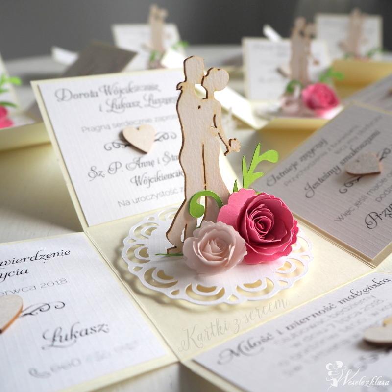 Zaproszenia ślubne 3D rozkładane, pudełka, exploding box, przestrzenne, Żywiec - zdjęcie 1