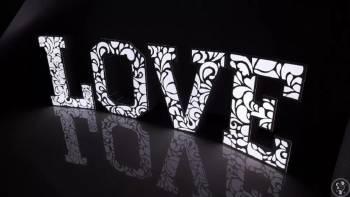 Napis LOVE XXL 120cm (RGB, nakładki ażurowe), Napis Love Złoczew