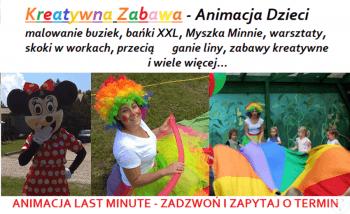 ❤ ANIMACJA DZIECI na weselu ❤ Myszka Minnie,malowanie twarzy,bańki XXL, Animatorzy dla dzieci Gorlice