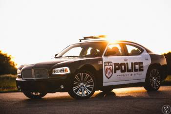 Dodge Charger POLICE do Ślubu, Samochód, auto do ślubu, limuzyna Mikołajki
