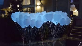 Balony LED- Pudło balonowe - ATRAKCJE WESELNE, Balony, bańki mydlane Katowice
