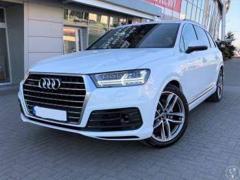 Białe Audi Q7 II  z kierowcą do ślubu i nie tylko, Samochód, auto do ślubu, limuzyna Krzanowice