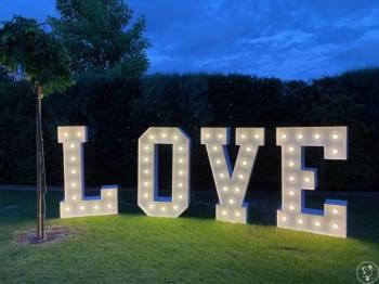 Girlandy żarówkowe LED, napis LOVE 150cm, Dekoracje światłem Lubień Kujawski