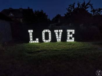 Wynajmę podświetlany napis LOVE, Napis Love Bobowa