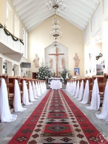 Dekoracja wystrój kościoła na ślub wesele chrzest komunie, Dekoracje ślubne Nisko