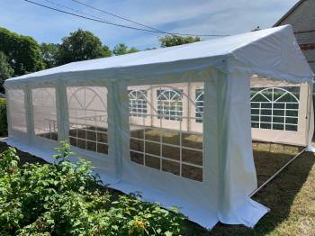 Namioty cateringowe bankietowe 5x8 5x10 białe drewniane krzesła, stoły, Wypożyczalnia namiotów Toruń