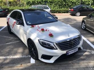 Biały Mercedes S63 AMG LONG, Samochód, auto do ślubu, limuzyna Żukowo