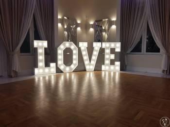 Napis LOVE ślub wesele poprawiny, Dekoracje ślubne Końskie