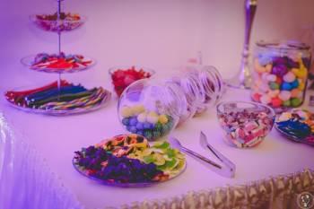 Żelkowy stół; słodki stół; słodki kącik; candy bar, Słodki kącik na weselu Zwoleń