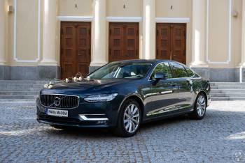 Volvo S90 - granatowy, elegancki samochód do ślubu, Samochód, auto do ślubu, limuzyna Luboń