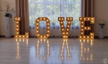 Litery LOVE wolne terminy!!!! Napis z drewna!, Dekoracje światłem Zagórz