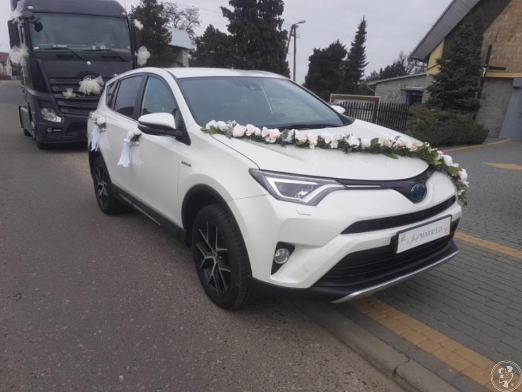 500 zł Toyota RAV4 hybryda, biała perła do ślubu (cena już z wystrojem, Wieluń - zdjęcie 1
