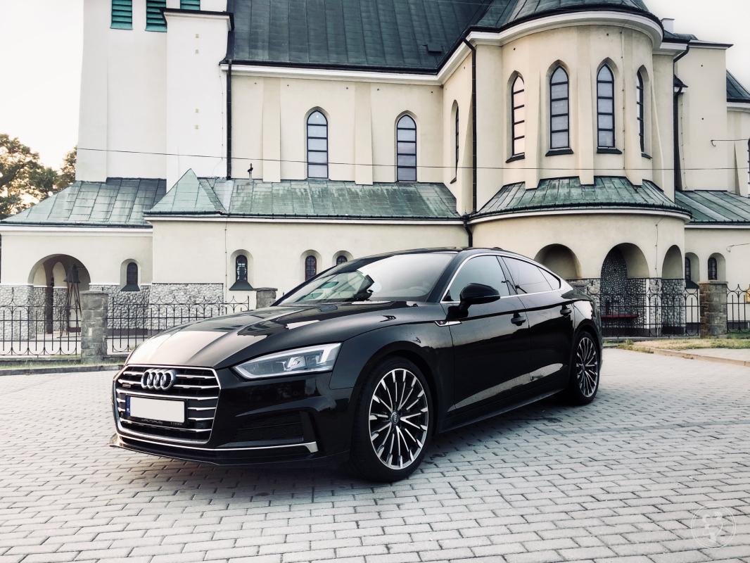 Piękne, czarne Audi A5 do ślubu! Samochód do ślubu, Rzeszów - zdjęcie 1