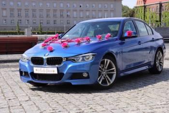 Stylowe auto do Waszego Ślubu- BMW 3 Msport w kolorze Estoril Blue, Samochód, auto do ślubu, limuzyna Żarów