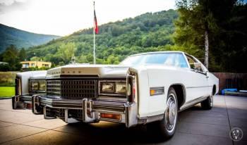 Cadillac Eldorado Biarritz oraz Transport dla gości weselnych, Samochód, auto do ślubu, limuzyna Bielsko-Biała