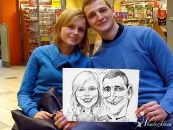 Atrakcja na wesele Karykaturzysta Karykatury Portrety na żywo, Artysta Kraków