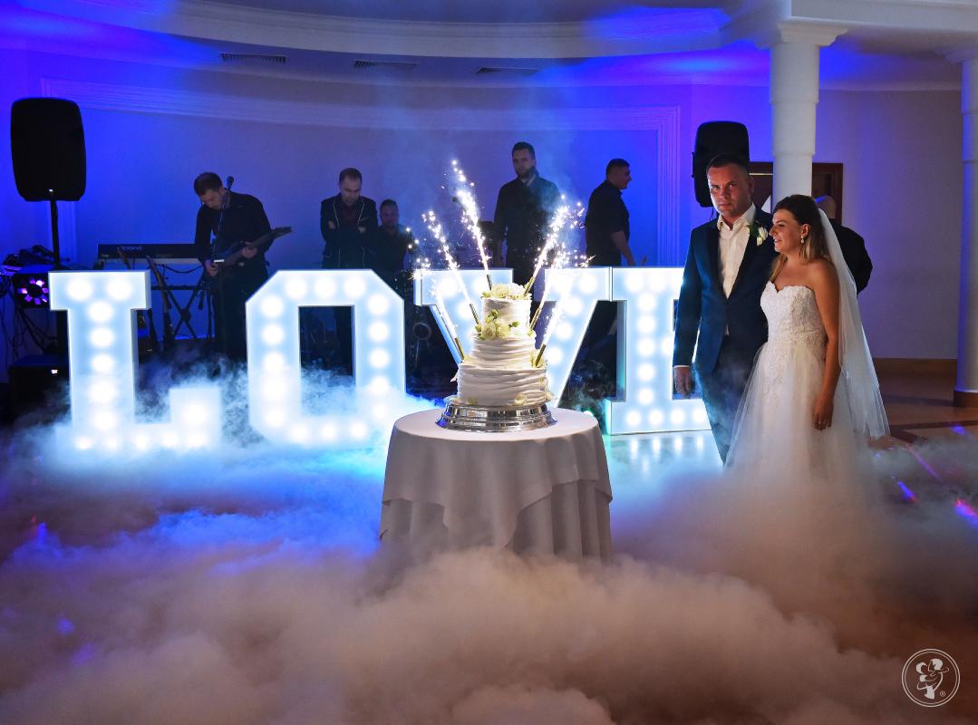 Pierwszy Taniec i Tort w chmurach (ciężki dym) + oświetlenie, Piotrków Trybunalski - zdjęcie 1