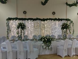 Ścianka weselna, tło dla Państwa Młodych,  Siewierz