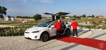 Tesla X White Diamond Pearl - prestiżowe i komfortowe auto do ślubu, Samochód, auto do ślubu, limuzyna Polkowice