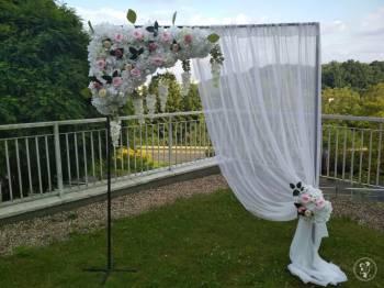 brama kwiatowa ścianka brama weselna Silk Beauty- bramy kwiatowe, Dekoracje ślubne Olsztyn