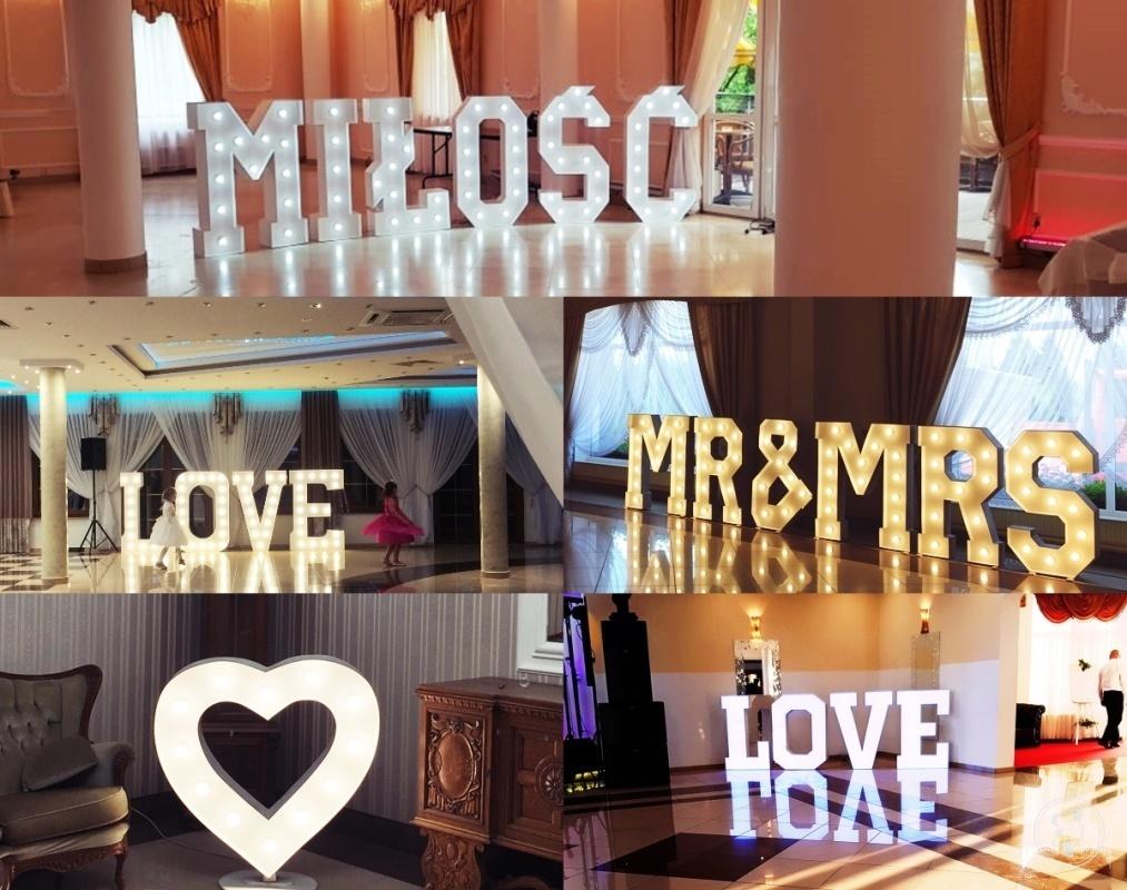 Napisy na Wasze wesele:Miłość,Love,Mr&Mrs;,Serce,Ciężki dym,Balony, Wyszków - zdjęcie 1