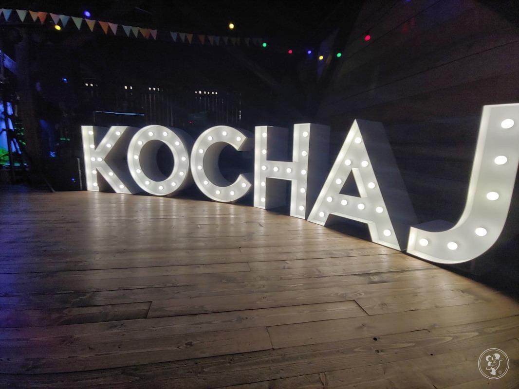 Podświetlany napis KOCHAJ - wysokość liter 100cm, Kęty - zdjęcie 1