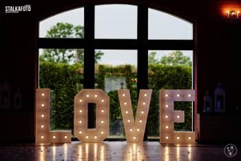 Gigantyczny Napis Love / Gra światła / Atrakcja , Napis Love Chojnice