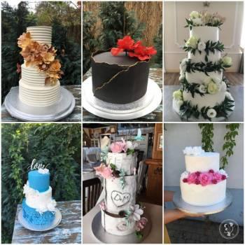 Torty weselne i słodkie stoły. Firma MyCake zaprasza!, Tort weselny Margonin