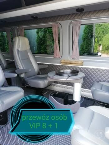 Wynajem busa VIP 8+1, przewóz gości, wesela, kawalerskie i panieńskie, Wynajem busów Skawina