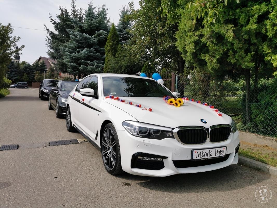 Białe BMW G30 2019, Kraków - zdjęcie 1