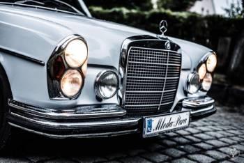 zabytkowy mercedes do ślubu, Samochód, auto do ślubu, limuzyna Wołów