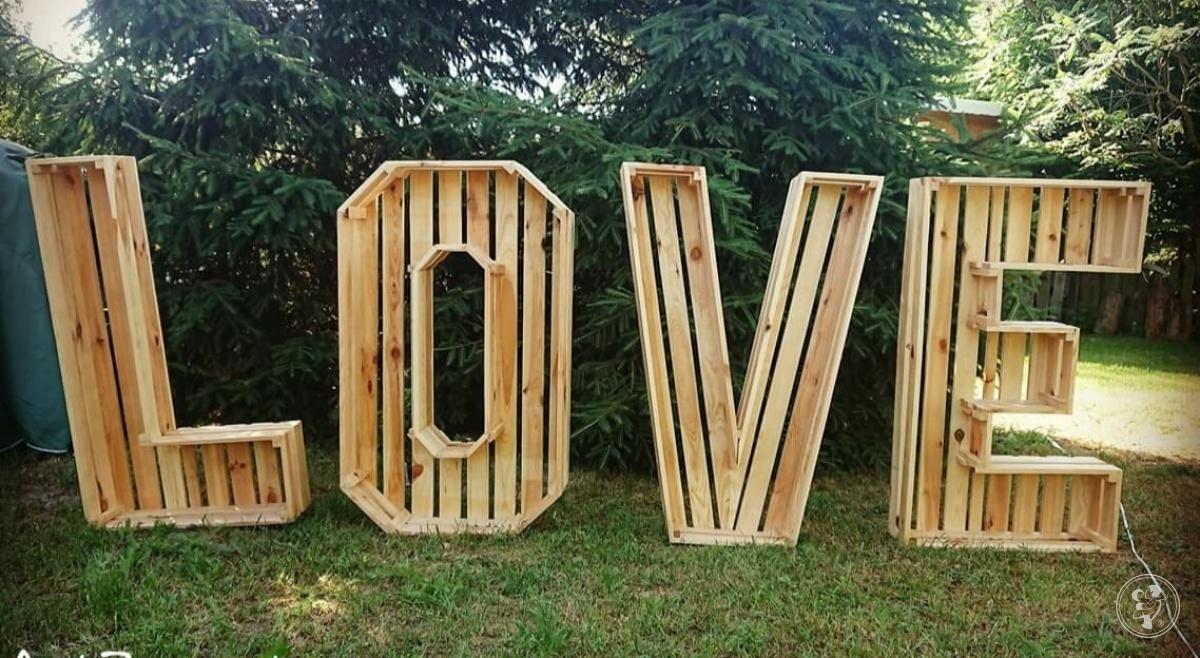 Napis LOVE - niepowtarzalny, drewniany, Tczew - zdjęcie 1