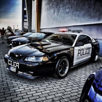 Policyjny Ford Mustang 4.6 GT V8, Samochód, auto do ślubu, limuzyna Mszana Dolna