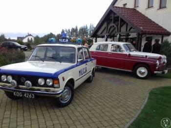 AUTO DO ŚLUBU  WARSZAWA 223 - FIAT 125P MILICJA RETRO LIMUZYNA PRL-U, Samochód, auto do ślubu, limuzyna Kołobrzeg