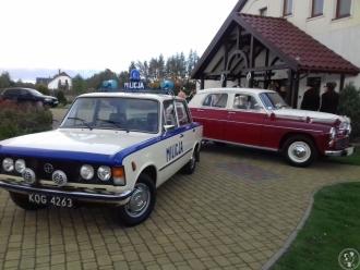 AUTO DO ŚLUBU  WARSZAWA 223 - FIAT 125P MILICJA RETRO LIMUZYNA PRL-U,  Kołobrzeg