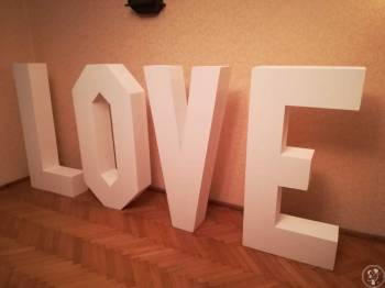 Duży (120cm) Biały Napis LOVE Ślub Wesele Imprezy Okolicznościowe, Napis Love Łęczyca