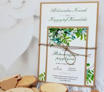 Zaproszenia Ślubne KONTRAST, Zaproszenia ślubne Zduńska Wola