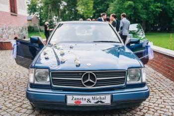 mercedes coupe 1990r styl, komfort, piękne wnętrze, klasyka, Samochód, auto do ślubu, limuzyna Stęszew
