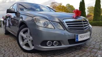 Mercedes-Benz E klasa, perłowy metalik, limuzyna - Samochód do ślubu, Samochód, auto do ślubu, limuzyna Kórnik