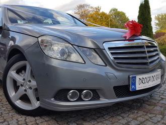 Mercedes-Benz E klasa, perłowy metalik, limuzyna - Samochód do ślubu,  Poznań