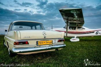 Piękny Mercedes Skrzydlak do ślubu, Samochód, auto do ślubu, limuzyna Żabno