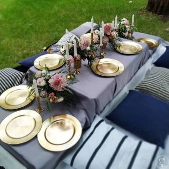 Złote podtalerze pięknie udekorują Twoje stoły!, Artykuły ślubne Konstancin-Jeziorna