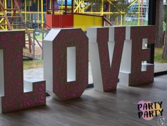 Ażurkowy napis ledowy LOVE 120 cm, wszystkie kolory tęczy!,  Ustka