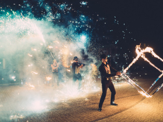 teatr ognia enigma pokazy ognia taniec z ogniem fireshow,  Katowice