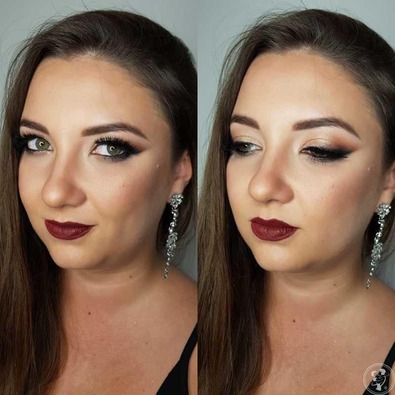 Profesjonalny makijaż ślubny z dojazdem do klienta - Karolina Pęgiel, Dąbrowa Górnicza - zdjęcie 1