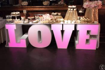 Napisy świecące LOVE, MIŁOŚĆ, inicjały - wynajem, Napis Love Orneta