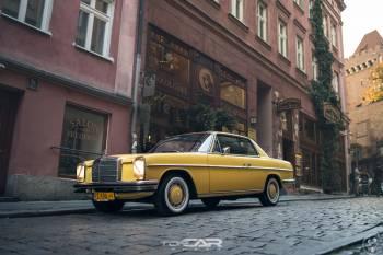 Zabytkowy Klasyk - Mercedes W114 coupe, 280- auto do ślubu, Samochód, auto do ślubu, limuzyna Wieleń
